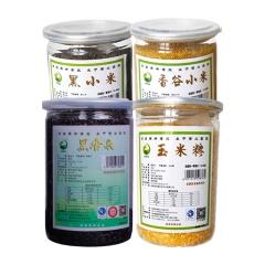 佳州缘青羽鸟香谷小米500g、黑香米500g、黑小米500g、玉米糁500g