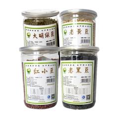佳州缘青羽鸟红小豆500g、老黑豆500g、老黄豆500g、大明绿豆500g 组合装