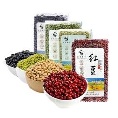 西部粮仓豆类组合绿豆400g、红豆400g、黄豆350g、黑豆325g
